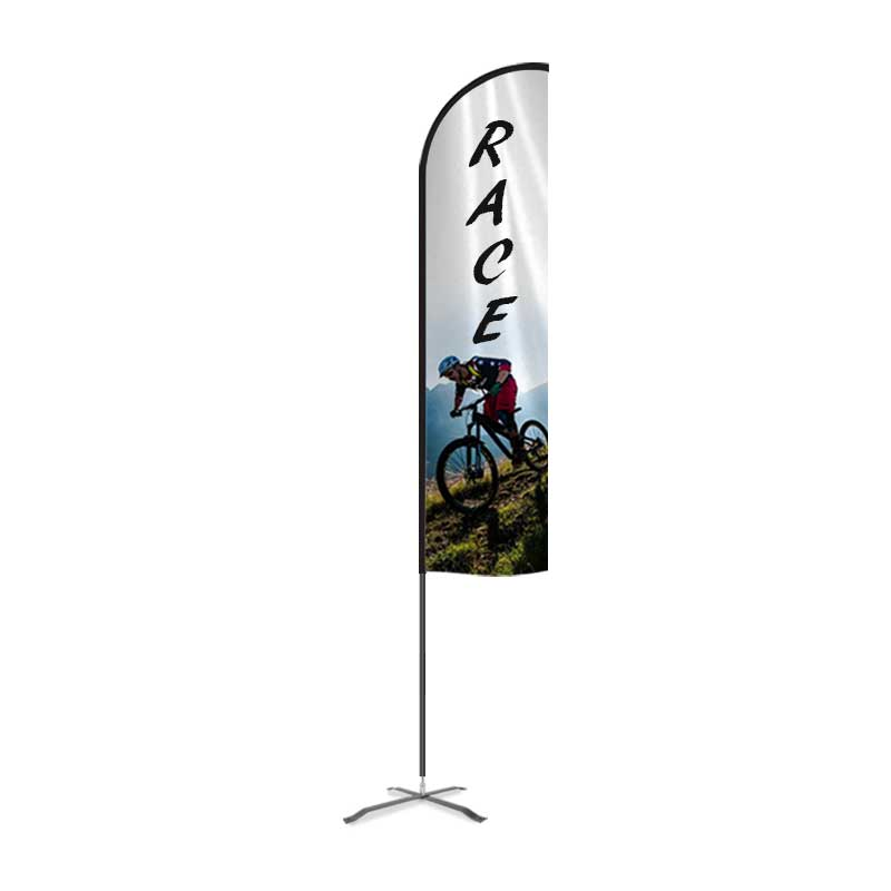 17 The Curbie Flex Feather Flag Banner Pole Kit Business and Store Sign FBAN-MXMAS-01-KIT-17