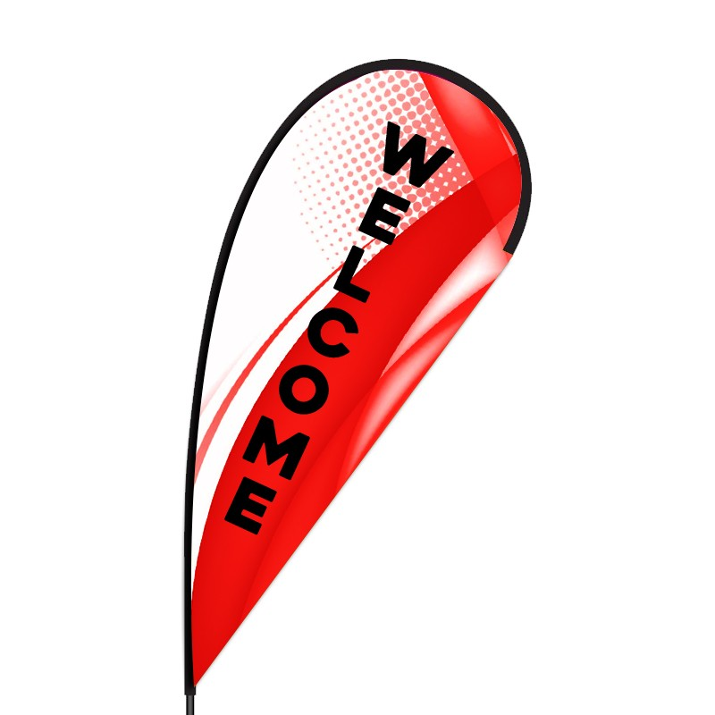 Welcome Store Flex Teardrop Flag