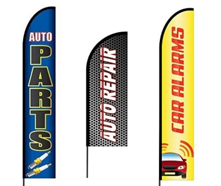 Auto Parts, Auto Repairs, Car Wash and Detailing Flags