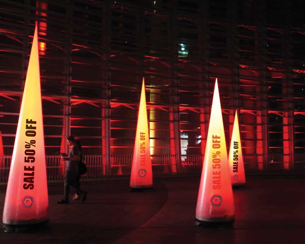 Custom Printed LED Inflatable Pillars