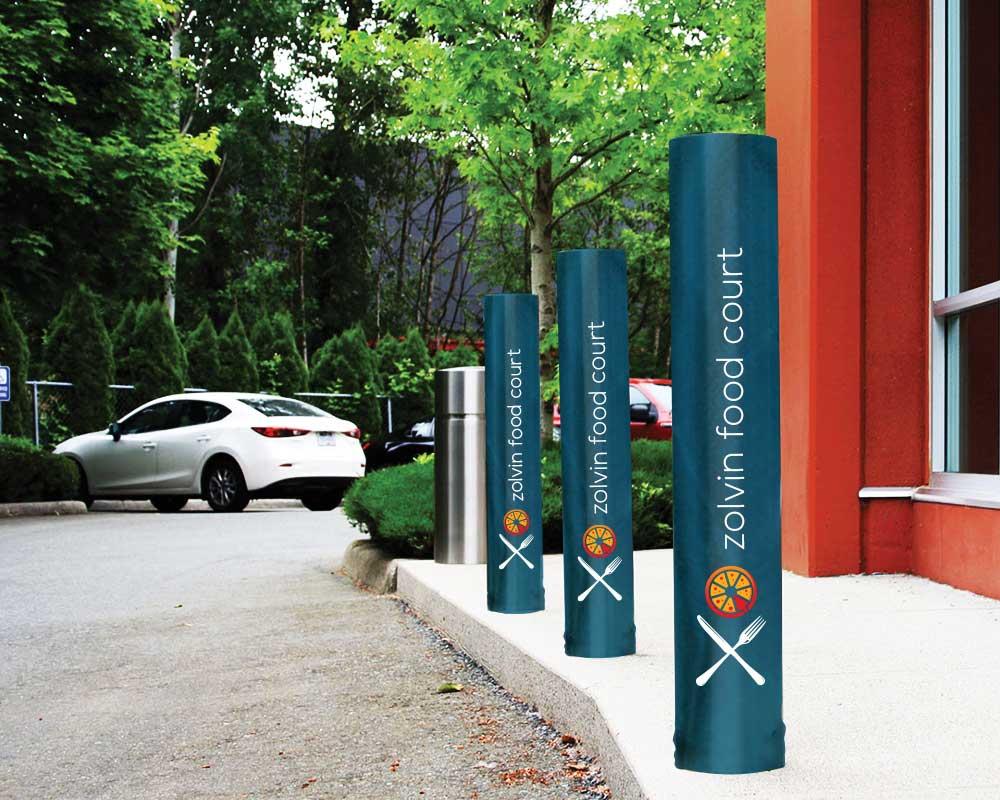 Personalized bollard pole covers