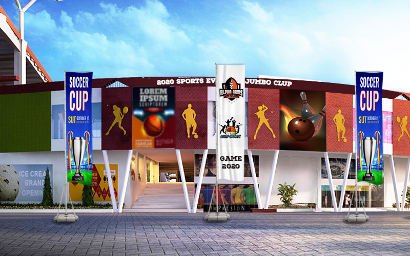 customized giant advertising flags for business