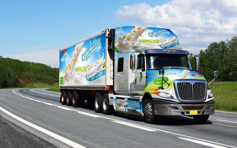 Custom Printed Truck Wrap