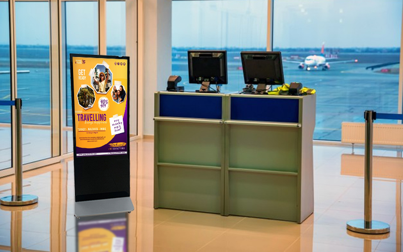 Touch Screen Digital Signage Kiosk customized