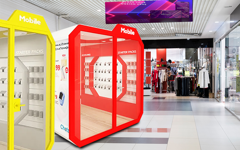 retail pods for business/stores